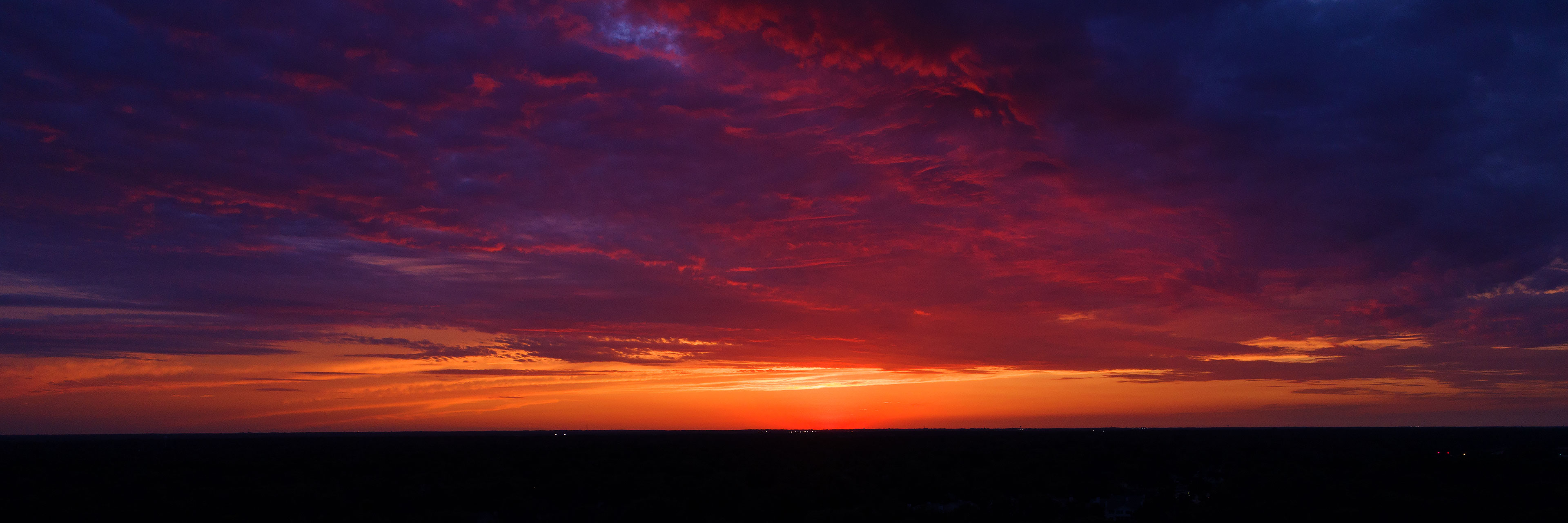 One nice summer sunset in Deerfield, Illinois photographed by Jacob Rosenfeld for Unmanned Pix